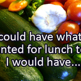Writing Prompt for November 14: Lunch