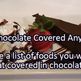 Writing Prompt for December 16: Chocolate Covered