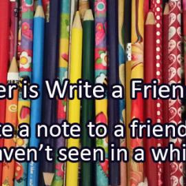 Writing Prompt: Write a Friend