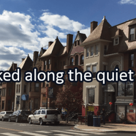 Writing Prompt for December 22: Quiet Street