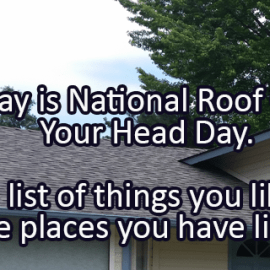 Writing Prompt for December 3: Roof Over Your Head