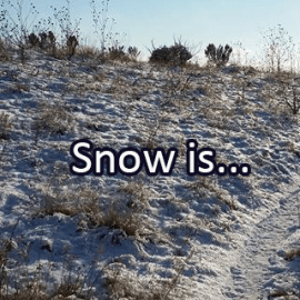 Writing Prompt for Tuesday, December 4, 2018: Snow
