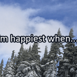 Writing Prompt for January 10: Happiest