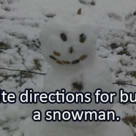 Writing Prompt for February 4: Snowman