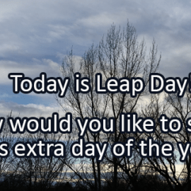 Writing Prompt for February 29: Leap Day