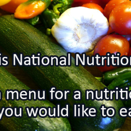 Writing Prompt for March 3: Nutrition