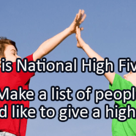 Writing Prompt for April 19: High Five!