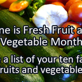 Writing Prompt for June 13: Fruits and Veggies