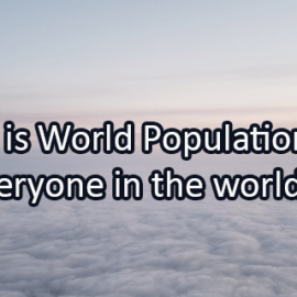 Writing Prompt for July 11: World Population