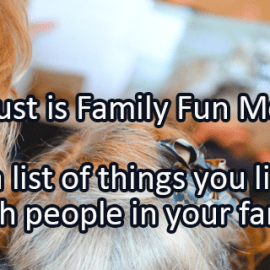 Writing Prompt for August 2: Family Fun