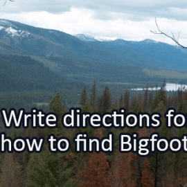 Writing Prompt for August 4: Bigfoot