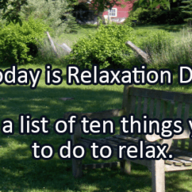 Writing Prompt for August 15: Relaxing