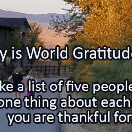 Writing Prompt for September 21: Gratitude