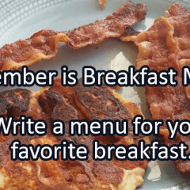 Writing Prompt for September 23: Breakfast
