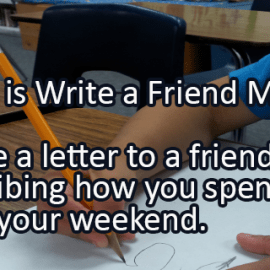 Writing Prompt for December 4: Write a Friend