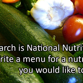 Writing Prompt for March 15: Nutrition