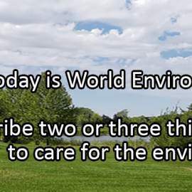 Writing Prompt for June 5: World Environment Day
