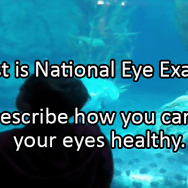 Writing Prompt for August 27: Eye Health