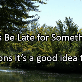 Writing Prompt for September 5: Being Late