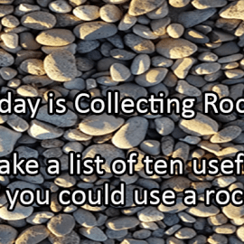 Writing Prompt for September 16: Rocks