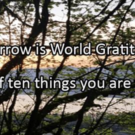 Writing Prompt for September 20: Gratitude