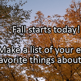 Writing Prompt for September 23: Fall!
