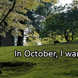 Writing Prompt for October 1: October