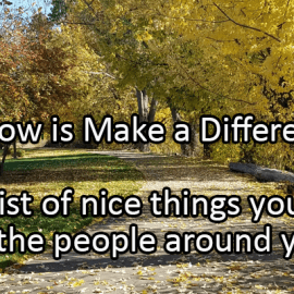Writing Prompt for October 25: Make a Difference