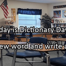 Writing Prompt for October 16: Dictionary Day