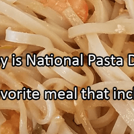 Writing Prompt for October 17: Pasta!