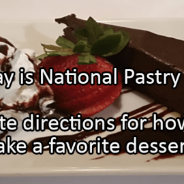 Writing Prompt for December 9: Pastry