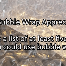 Writing Prompt for January 27: Bubble Wrap