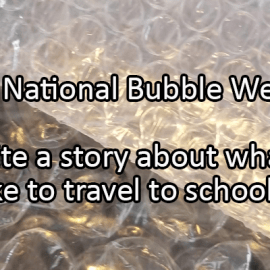Writing Prompt for March 9: Bubbles!