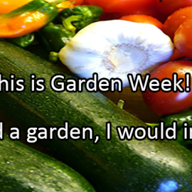 Writing Prompt for April 9: Garden Week