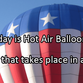 Writing Prompt for June 5: Hot Air Balloons