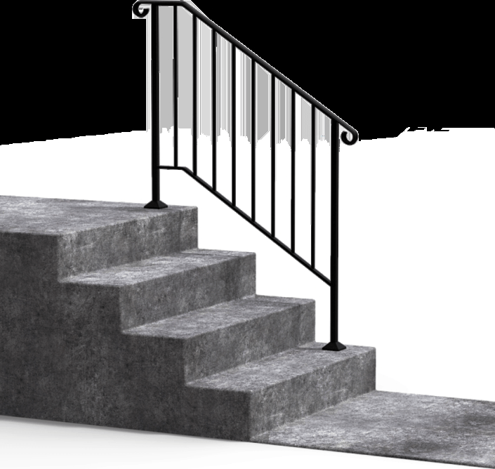 Diy Handrails Fortin Ironworks | Outdoor Stair Railing Installation | Balcony | Steel | Metal | Patio | Residential