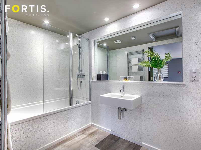 seamless epoxy resin bathroom walls