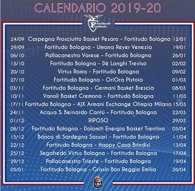 Calendario Particolare.Fortitudo Bologna Martino Sul Calendario Leggere