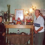 With the widow of General An in Hanoi