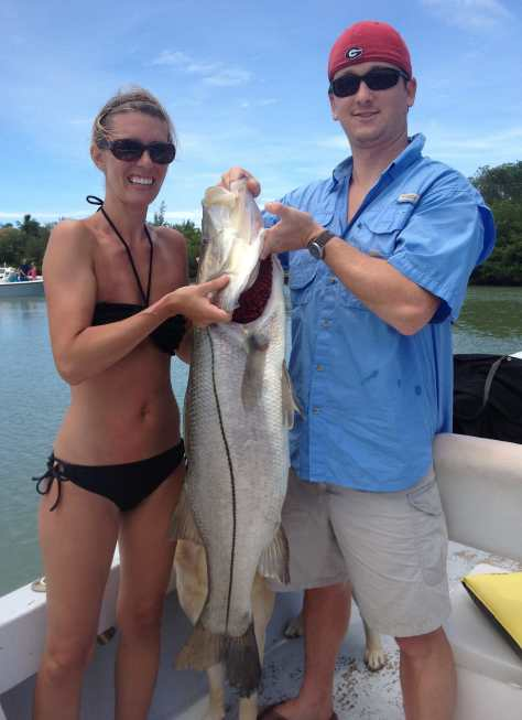 Big Snook, April 21, Fort Myers Fishing Charters & Fort Myers Fishing Report.