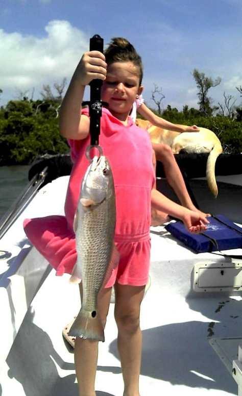 Little Girl, Big Redfish, Buck Key Mangroves, Fort Myers Fishing Report & Fort Myers Fishing Charters.