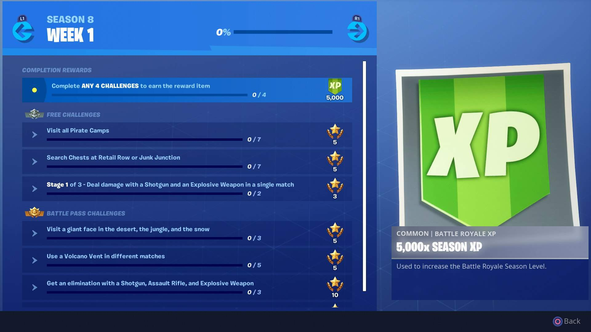 Fortnite Week 1 Challenges Pirate Camp Locations And Giant Face