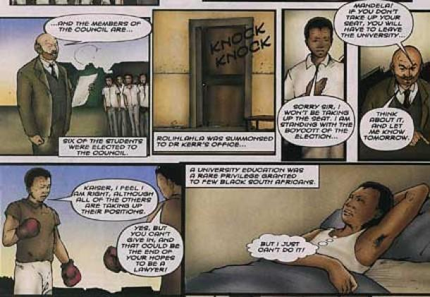 nelson mandela authorised comic book