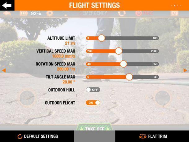 A.R.Drone 2 - App Control Settings