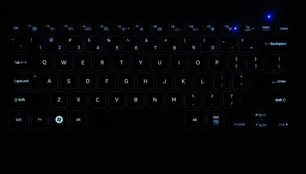 Samsung Series 9 - Backlit Keys