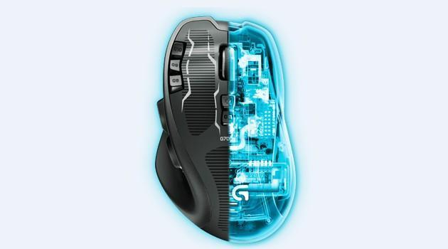 Logitech G700s - Top