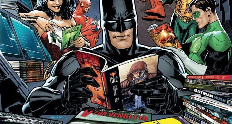 batman reading comics
