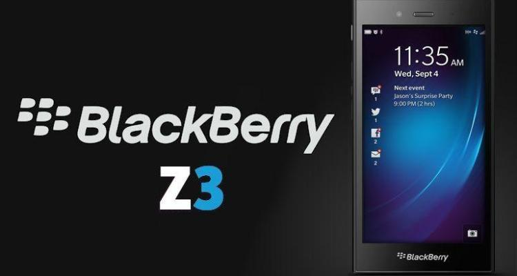 BlackBerry Z3 - Header