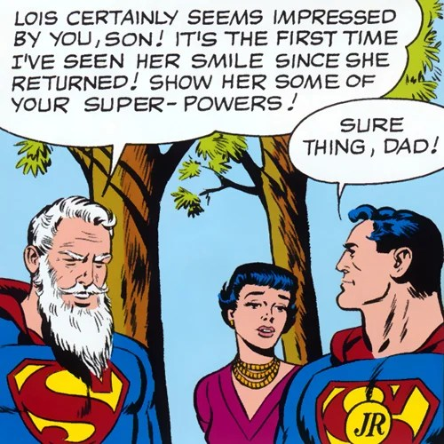 Robin as Superman Jr in Superman's Girl Friend Lois Lane #6 (January 1959)