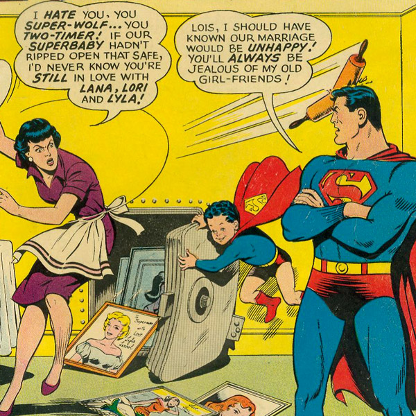 Larry, with Lois Lane in Superman's Girl Friend Lois Lane #39 (February 1963)